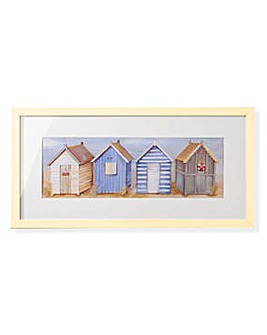 Arthouse Beach Huts Framed Print