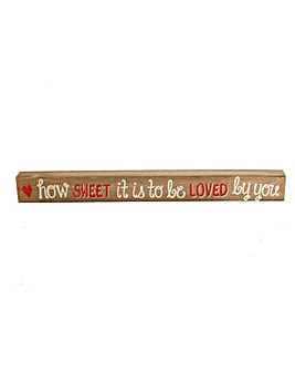 How Sweet Wooden Mantle Plaque