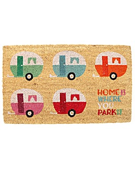 Coir Door Mat - Caravan Design