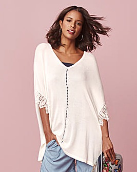 Lace Sleeve Poncho