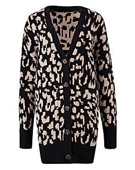 Animal Jacquard Cardigan