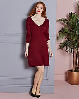 Knitted Wrap Dress