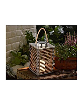 Collection Solar Rattan Lantern.