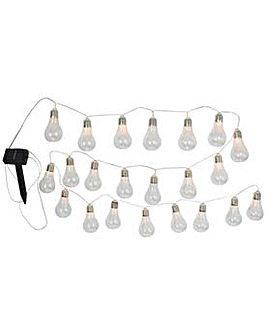 Solar Powered Bulb String Lights - 20