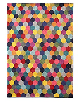 Radiant Hexagon Rug