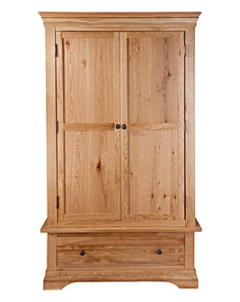 Newark Solid Oak 2 Door1 Drawer Wardrobe