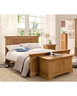 Oak & Oak Veneer Bedstead with Mattress
