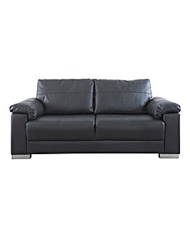 Ravel Leather 3 seater Sofa