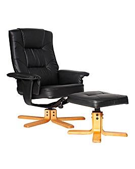 Banbury Recliner Chair & Footstool