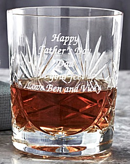 Personalised Panel Cut Crystal Whisky Gl