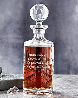 Personalised Panel Cut Crystal Decanter