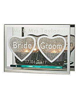 Personalised Mirror Glitter Bride & Groo