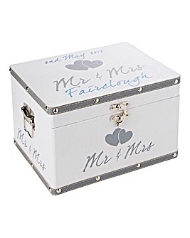 Personalised Mr and Mrs Keepsake Box