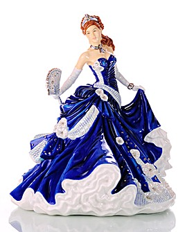 Midnight Romance Figurine with Swarovski