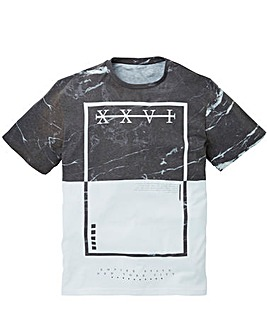 Label J Marble Panel Tee Long