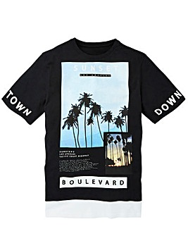Label J Longline LA Print Tee Regular