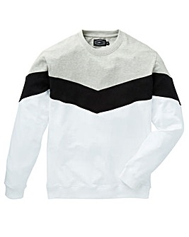 Label J Chevron Crew Sweat Long