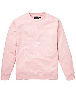 Label J Print Crew Sweat Long