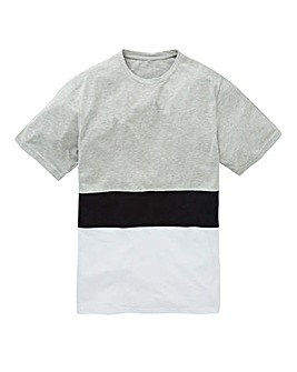 Label J Panel Block Tee Long