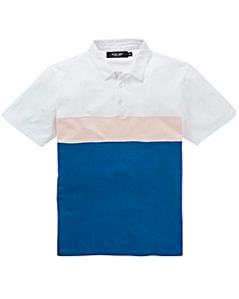 Label J Panel Block Polo Long