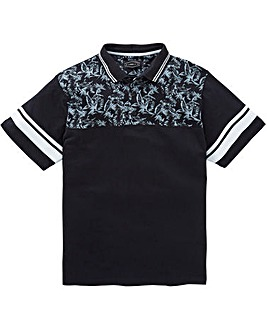 Label J Panel Print Polo Regular
