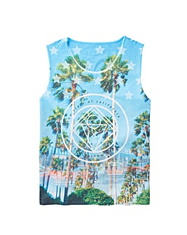 Label J Miami Print Vest Long