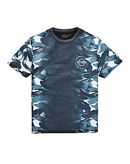 Label J Camo Fade Panel Tee Long