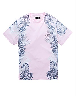 Label J Floral Fade Panel Tee Long
