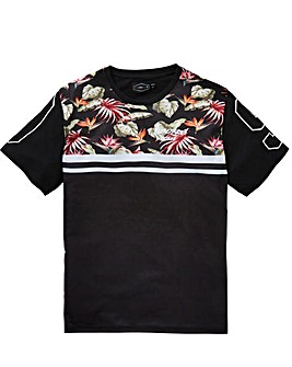Label J Floral Sports Panel Tee Long