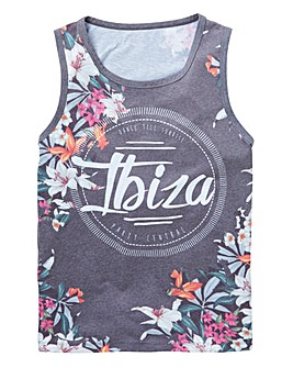 Label J Floral Sporty Vest Regular