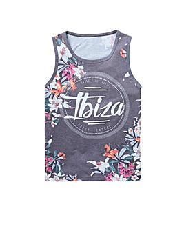 Label J Floral Sporty Vest Long