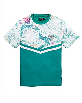 Label J Floral Chevron Stripe Tee Reg