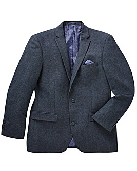 Black Label Tweed Wool Blazer Long