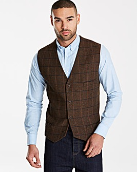 Black Label Brown Checked Waistcoat R