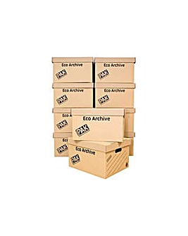 Multiuse Archive Storage Boxes-Set of 10