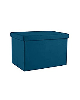Large Fabric Ottoman - Teal