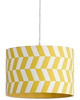 30cm Drum Easy Fit Shade - Yellow