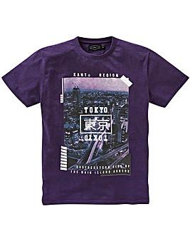 Label J Tokyo Print T-Shirt Reg