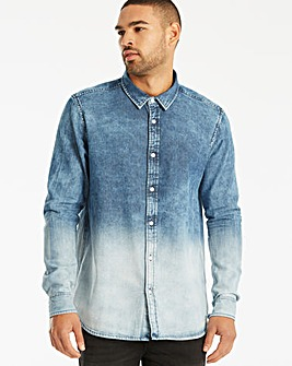 Label J LS Dip Dye Denim Shirt Reg