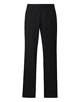 Black Label Black Slim Trousers 33in
