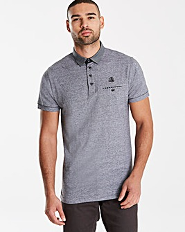 Black Label SS Stripe Trim Polo Reg