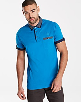 Black Label SS Cuff Trim Polo Long