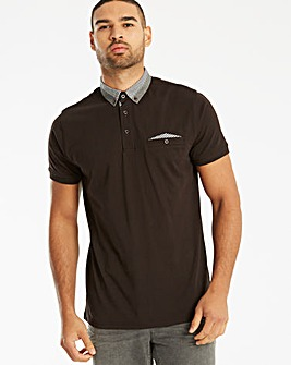 Black Label SS Pocket Trim Polo Long
