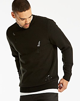 Label J Ripped Stitch Knit Reg