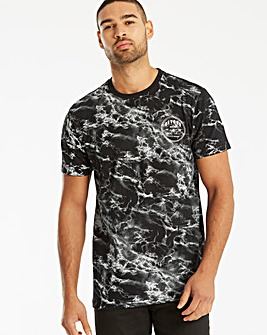Label J Marble Print T-Shirt Long