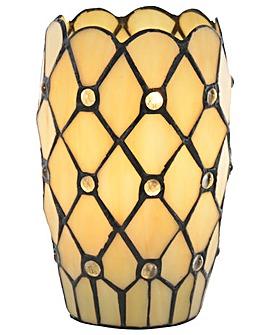 Tiffany Jewel Vase Table Lamp - Honey