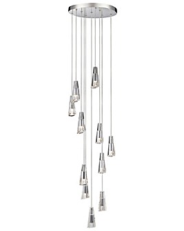 Glyde LED 11 Lt Bathroom Pendant-Chrome