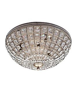 Crystal Basket Ceiling Light-Ant Brass