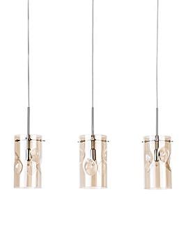 3Lt Champagne Tint Glass Ceiling Pendant