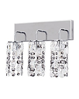 Lagan LED 3 Light Bathroom Wall-Chrome